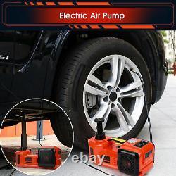 Car 12V DC 5 Ton Electric Hydraulic Floor Lift Scissor Jack Repair Wheel Change