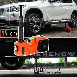 Car Electric Jack Hydraulic Floor 12V 5 Ton Lift Scissor Jack Inflator Pump KIT