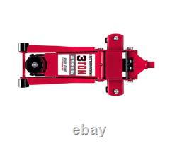 Car Floor Jack Lift 3 Ton Low Profile Dual Piston Rapid Pump Automotive Vehicle