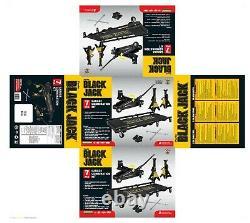 Car Jack Set Kit Garage Black 2 Ton Stands Bundle Combo Metal Trolley Lift Pair