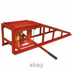 Car Ramps Lift 2 Ton Hydraulic Lifting Jack Height Adjustable Height Garage UK