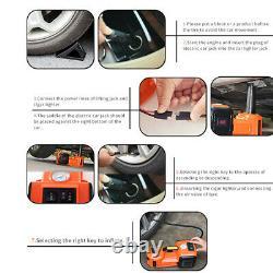 Car SUV 5 Ton 12V Electric Hydraulic Jacks Floor lift Jack Stands Repair Tool