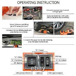 Electric Hydraulic Floor Jack DC12V 5Ton Car Jack Lift Tire Tyre Repair Tool Kit