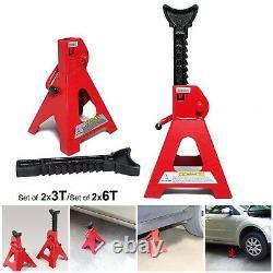 Home 2x3 / 6 Ton Axle Jack Stands Heavy Duty Auto Car Lifting Floor Ratchet Tool