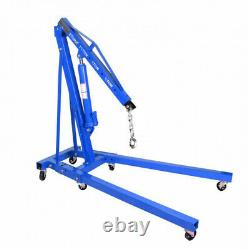 Hydraulic Engine Motor Crane 2 Ton Hoist Lift Jack Folding Standing Workshop UK