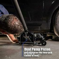 LOW Profile Steel Service Jack Auto Garage Lifting Equipment Floor Black 2 Ton