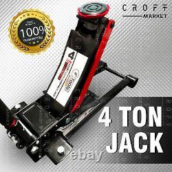 NEW 4 Ton Heavy Duty Ultra Low Profile Hydraulic Trolley JACK Quick Lift