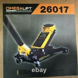 Omega 26017 Aluminum Hybrid Service Jack, 1.5 Ton Lifting Capacity