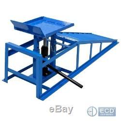 Pair car ramp lift hydraulic lifting jack device ramp 2 heights 2 ton heavy duty