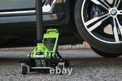 Professional Car Floor Jack Hydraulic Low Profile 3 TON Lift Auto DOUBLE-PISTON