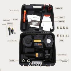 ROGTZ Electric Hydraulic Jack Set 12v 4 in1 Automatic 5 Ton car Lift Black