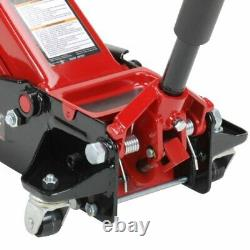 Solid Steel Fast Lift 3.5 Ton Cap Service Jack with Swivel Saddle and Rear Caster