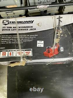 Strongway 35-Ton Quick Lift Air/Hydraulic Service Floor Jack 46201 P-15
