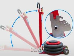 TECHTONGDA 3 Tons/6600lbs Air Bag Jack Lifting Stand Autoshop Tool