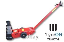 TyreON TPH80-T2 Air hydraulic jack 80Tons Lift 23-58.3 cm 2 Stage Telecopic