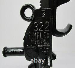 Vtg Templeton Kenley 322 Simplex Reel Railroad Jack 14 Lift 10 Ton Capacity