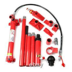 10 Tonnes Porta Power Hydraulic Jack Air Pump Lift Ram Body Frame Outil De Réparation