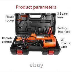 12v 3 Ton Automatique Voiture Électrique Jack Lift Portable Sedan Suv Scissor Floor Jack