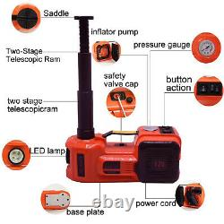 12v 5 Tonnes Électrique Plancher Hydraulique Jack Lift Pneu Inflator Pump Car Van Garage