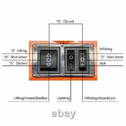 12v 5ton Voiture Électrique Jack Hydraulique Étage Ascenseur Outil Bord De Route Des Pneus Réparation 45cm