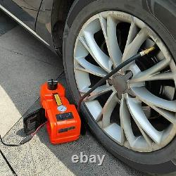 12v 5ton Voiture Jack Ascenseur Électrique De Plancher Hydraulique Jack Impact Wrench Tire Kit D'outils