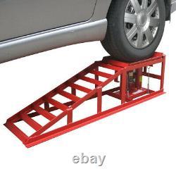 1 Paire Lifting Car Ramp Jack 2 Tonnes Atelier De Garage Réglable À Hauteur Hydraulique