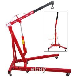 1 Tonne/2 Tonne Moteur Hydraulique Pliant Crane Lift Pump Ram Hoist Jack Lifting Tool