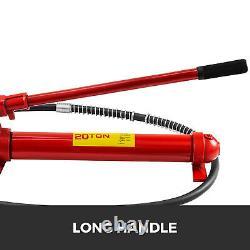 20ton Porta Power Hydraulic Jack Body Frame Repair Kit 2m Allonger Hose Lift Ram