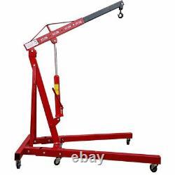 2 Ton Hydraulic Folding Engine Crane Crane Lift Lifter Jack Stand Workshop Royaume-uni
