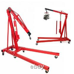 2 Ton Pliage Moteur Hydraulique Grue Grue Lift Jack Stand Wheels Voiture Van Lifter