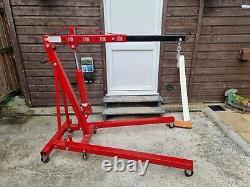 2 Tonnes De Moteur Hydraulique Crane Stand Hoist Ascenseur Jack Workshop Pliable Réglable