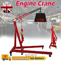 2 Tonnes Hydraulique Moteur Grue Élévateur Ascenseur Pliant Stand Jack Garage Mobile