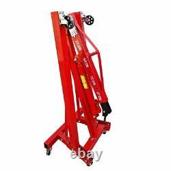 2 Tonnes Moteur Moteur Grue Hydraulique De Levage Levage Jack Levage Pliant Atelier Rouge