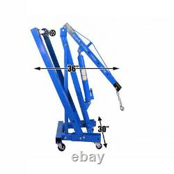 2ton Mobile Pliage Hydraulique Moteur De La Grue Béquille Atelier Hoist Grues De Levage