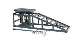 2x Auto Ramps Lift 2 Ton Hydraulique Lift Jack Hauteur Réglable Garage Outil Royaume-uni