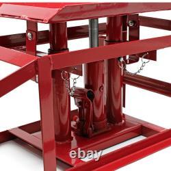 2x Rampes De Voiture Ascenseur 2 Tonnes Hydraulique Ascenseur Jack Hauteur Réglable Outil D'atelier
