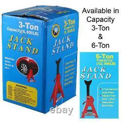3 / 6 Tonne Capacité De Levage Essieu Jack Stand Heavy Duty Caravan Car Floor Jack