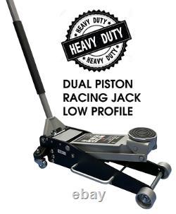 3 Ton Aluminium Steel 100mm Low Profile High Lift Trolley Racing Jack Qualité
