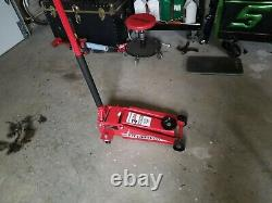 3 Ton Floor Jack Low Heavy Duty Steel Rapid Lift Pump Hydraulic Car Lifting Nouveau