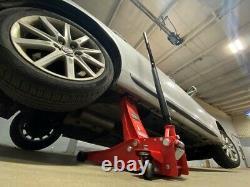 3 Ton Heavy Duty Steel Ultra Low Profile Floor Jack Quick Pump Lifting Car 5star