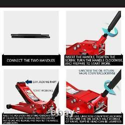 3 Tonnes 75mm Ultra Faible Profil D'entrée Chariot Jack High Lift Voiture De Garage