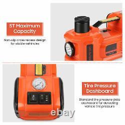 3in1 5ton 12v Ascenseur Voiture Électrique Jack De Sécurité Hammer Led & Compresseur D'air Set Box