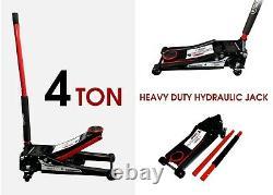 4 Ton Heavy Duty Ultra Low Profile De Plancher En Acier Chariot Jack Avec Quick Lift