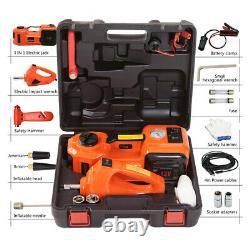 5 Tonnes Voiture Électrique Hydraulique Jack Air Pump Wrench Set Floor Stand Lifting Tools