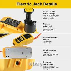 6 Ton Jack Stand 12v Electric Hydraulic Floor Jack Lift Pour L'outil De Réparation De Vus De Voiture
