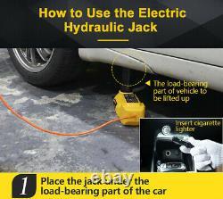 Autool 6ton Hydraulique Électrique Cric 12v Voiture De Levage Jack Outil D'urgence