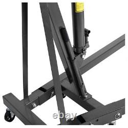 Black 1 Ton Moteur Hydraulique Hoist Crane Pliant Ascenseur Jack Atelier Garage