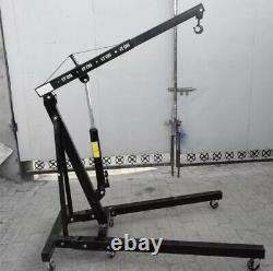Black 1 Tonne Hydraulique Pliant Moteur Garage Crane Stand Hoist Lifting Jack