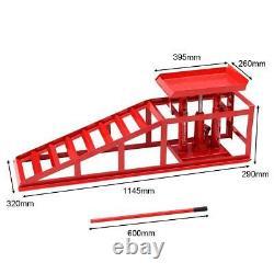 Costway 2pcs 2 Tonnes Véhicule Voiture Van Ramp Hydraulique Lifting Jack Garage Réglable