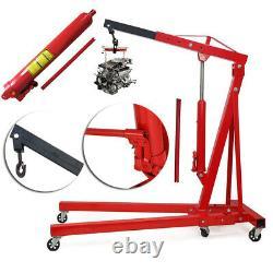 Crane De Moteur Pliable Réglable De 1 Tonne Roue Hydraulique Shop Stand Hoist Lift Jack